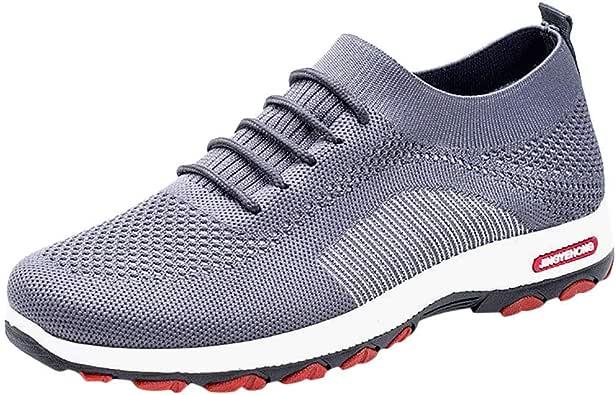 Zapatillas de Running para Hombre Aire Libre y Deporte Transpirables Moda Casual Zapatos Gimnasio Correr Ligero Sneakers Absorción de Choque Zapatos para Correr vpass: Amazon.es: Zapatos y complementos