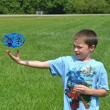 Opinión sobre ShinePick Mini Drone para Niños y Adultos, Recargable UFO Drone Movimiento Control Mano Drones Juguetes Voladores con Luz LED Beginner RC Helicóptero Regalos para Niños…
