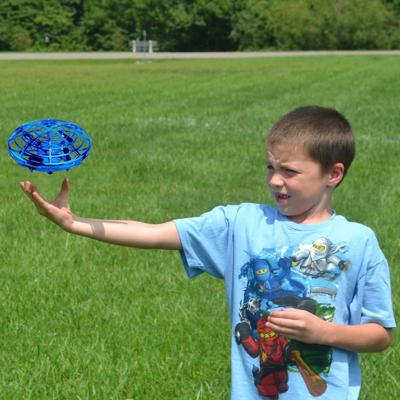 ShinePick Mini Drone para Niños y Adultos, Recargable UFO Drone Movimiento Control Mano Drones Juguetes Voladores con Luz LED Beginner RC