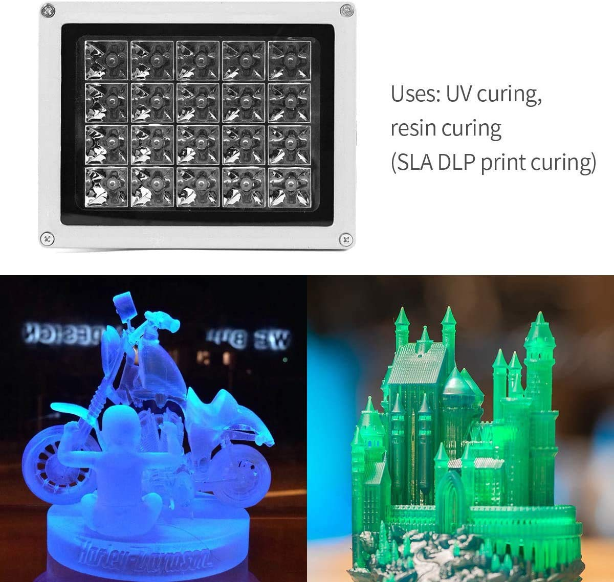medical therapy 20W 3D Printer Solidify Photosensitive Resin For UV curing SEAAN- UV resin curing light,405nm UV resin for SLA//DLP photochemical catalysis cell phone LCD screen