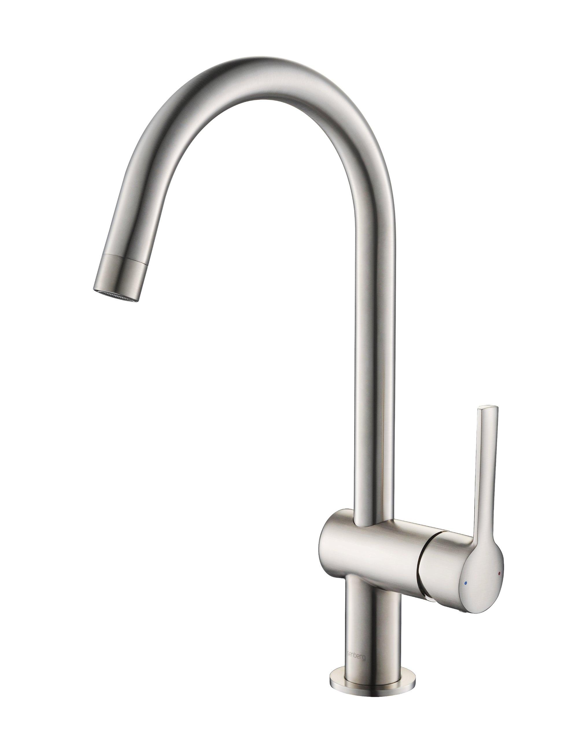 Isenberg 100.1402BN Serie 100 Kitchen / Bar Faucet, 100.1402, Brushed Nickel