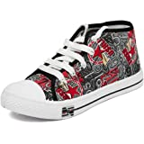 Asian shoes Racer-51 Black Red Canvas Ladies Shoes