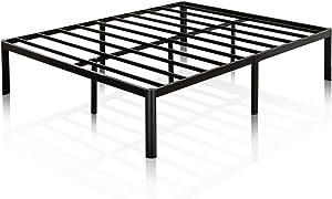 Zinus Van 16 Inch Metal Platform Bed Frame with Steel Slat Support / Mattress Foundation, Full