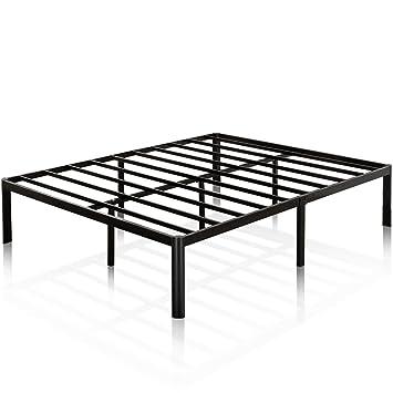 Zinus 16 Inch Metal Platform Bed Frame With Steel Slat Support/Mattress  Foundation, King