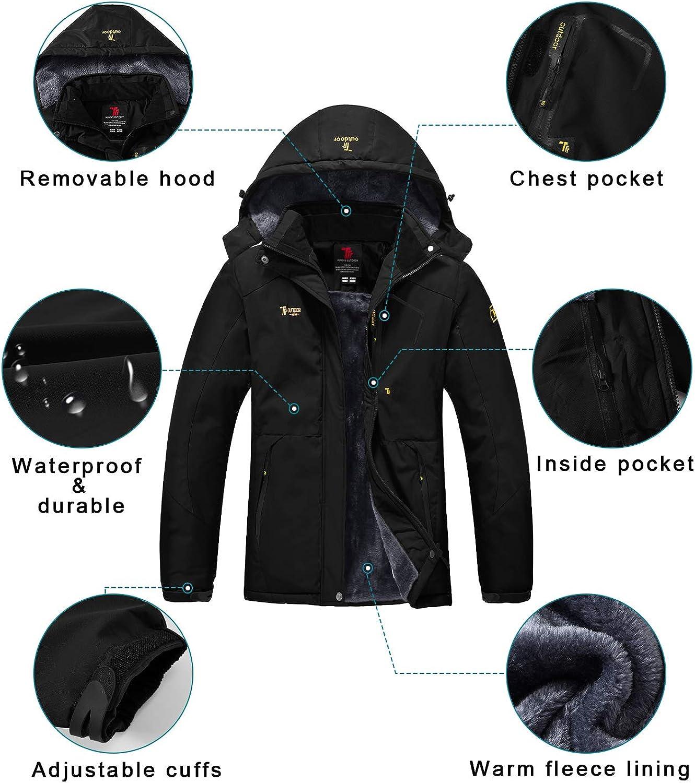 Gopune Women Snow Ski Jacket Waterproof Mountain Snowboarding Coat Outdoor Winter Raincoat
