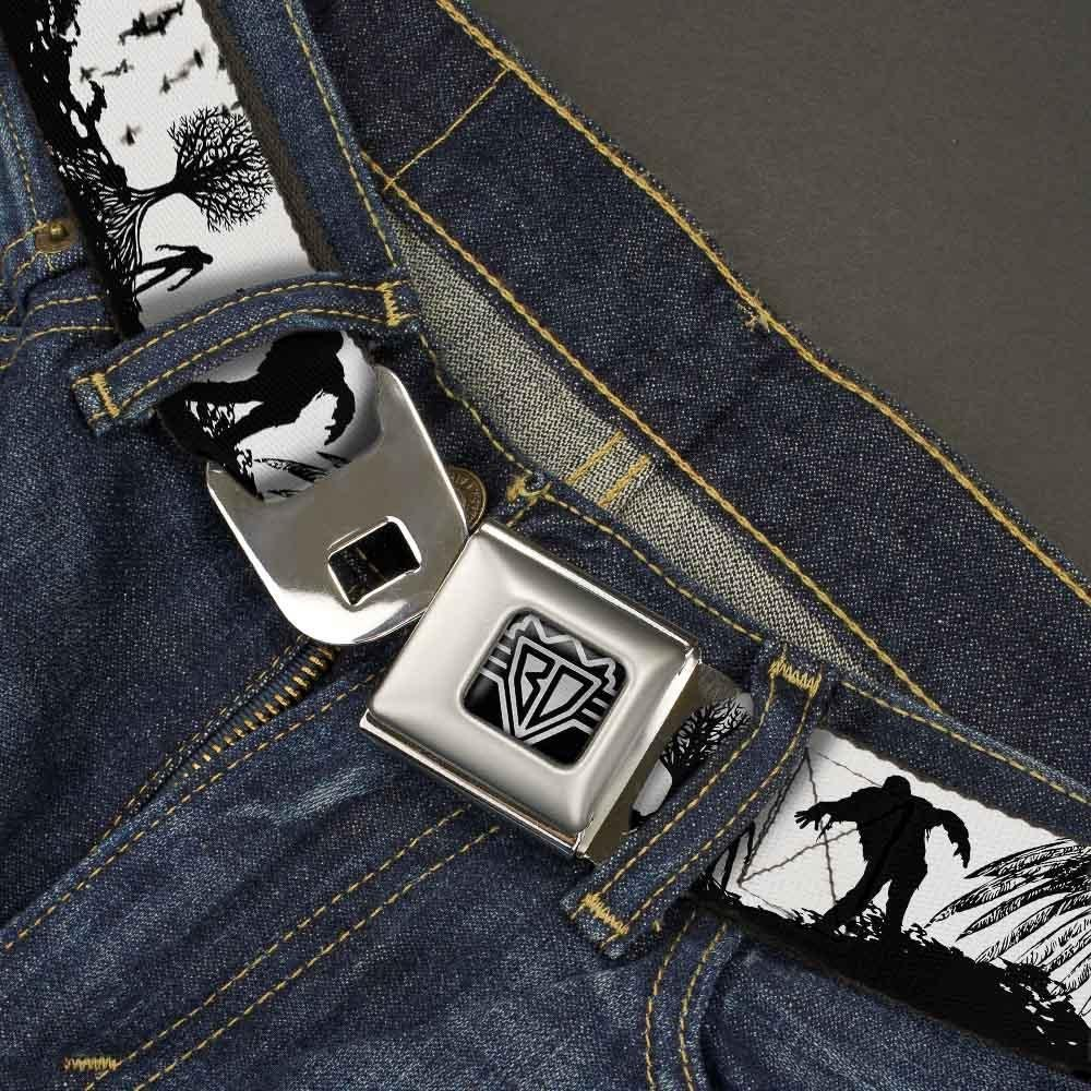 Fright Night White//Black//Red 32-52 Inches in Length 1.5 Wide Buckle-Down Seatbelt Belt