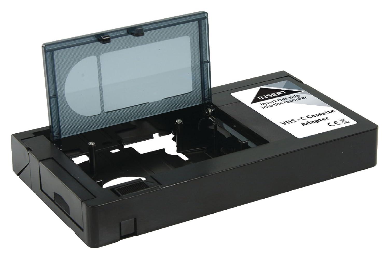 Adaptador de cinta VHS-C para la lectura de cintas VHS-C (solo VHS-C) de videocámara a videocámara VHS HQ