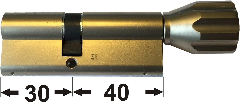 mit Sicherungskarte a//b mit 5 Schl/üssel Z30//K40mm ABUS EC660 ECK660 Profil-Knaufzylinder L/änge c=70mm