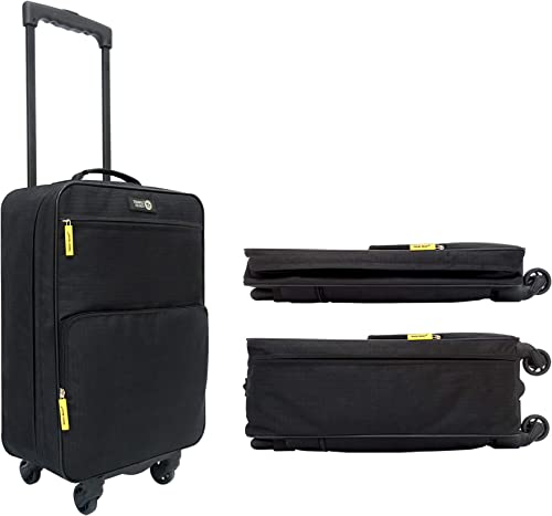 Travel Ready 4-Wheel Lightweight 4.1 lbs Collapsible Carry On Luggage. Made of High Tensile Strength Materials. Approved for All Major Airlines