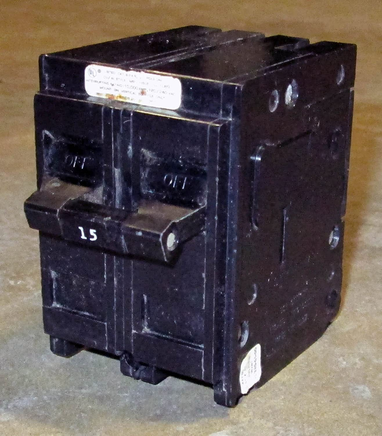 2 Pole Crouse Hinds MP215 15 Amp Circuit Breaker NEW