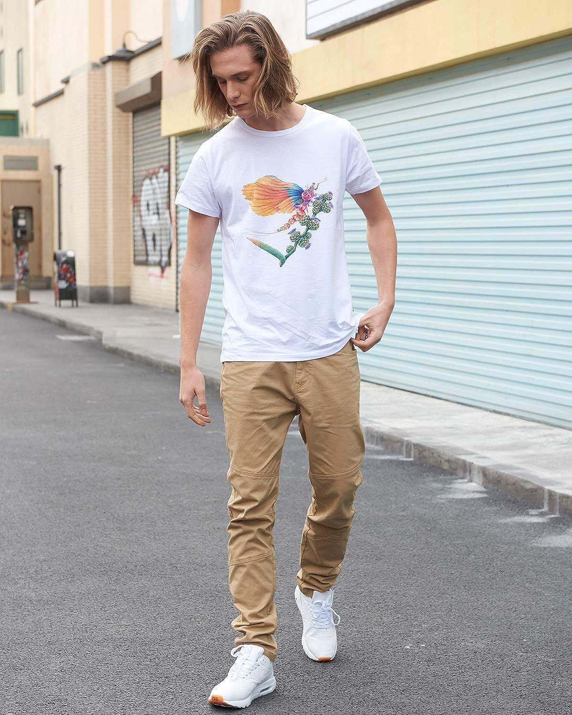 ITALY MORN Hombre Chino Casual Creativo Pantal/ón Algod/ón 14 Colores