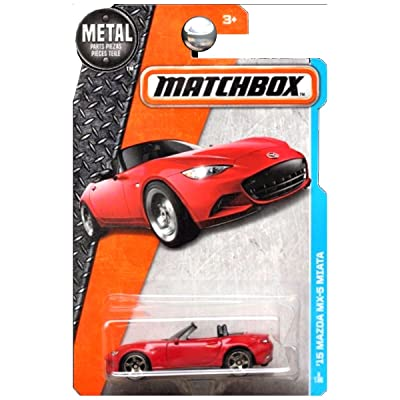 Matchbox 2016 MBX Adventure City Series '15 Mazda MX-5 Miata 1:64 Scale Collectible Die Cast Metal Toy Car Model 3/125: Toys & Games