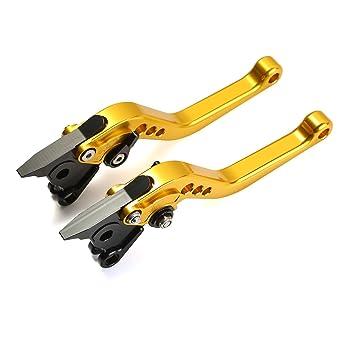 CICMOD Palanca de Freno y Embrague Corto 6-Veces Ajustables para HYOSUNG GT250R GT650R Oro: Amazon.es: Coche y moto
