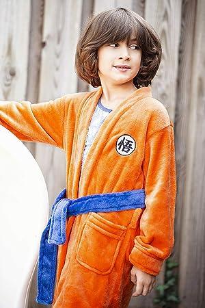 Gr/ö/ße CoolChange Dragon Ball Son Goku Kinderbademantel mit GO Schriftzeichen 130