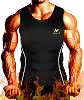 b21eb95b51e NINGMI Men Neoprene Waist Trainer Jacket Sweat Vest Sauna Compression Suit  Corset Top for Abdominal Trainer