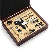 QLL Wine Gift Set 9 Piece Wine Accessories Set, All in one Best Rabbit Wine Opener Corkscrew