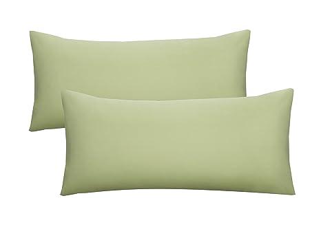 Biberna 0077144 Jersey-Kissenh/üllen aus 100 /% Baumwolle mit Rei/ßverschluss 2er-Pack 27 x 18 x 3 cm 40 x 80 cm Violett