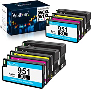 Valuetoner Remanufactured Ink Cartridges Replacement for HP 950XL 5 Pack (2 Black, 1 Cyan, 1 Magenta, 1 Yellow) Bundled with 4 Pack (1 Black, 1 Cyan, 1 Magenta, 1 Yellow)