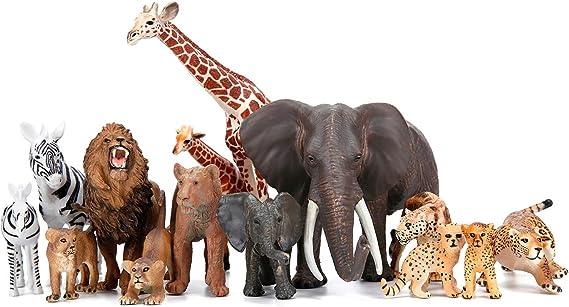 Plastic Zoo Animals #11 Lot Of 24 Cheetah Safari Jungle Party Favor Toy POS