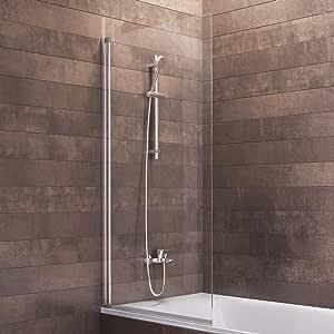 Schulte - Mampara de bañera Berlin de cristal de 1 pieza, gris, 4056397001232: Amazon.es: Bricolaje y herramientas