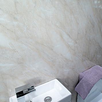 Claddtech beige Marmor Wand Dusche Badezimmer Wand Paneele groß ...