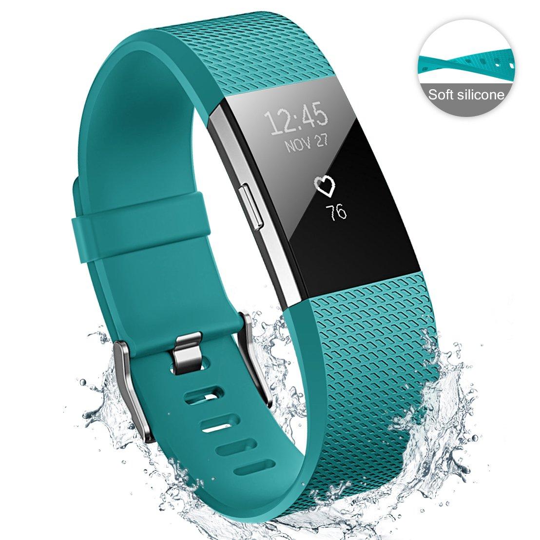 Hanlesi Fitbit Charge 2 Cinturino Originale Ricambio Braccialetto Sportivo in TPE Silicone Banda Accessori Regolabile Cinturino per Fitbit Charge2