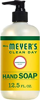 product image for Mrs. Meyer's Clean Day Liquid Hand Soap, Cruelty Free and Biodegradable Formula, Honeysuckle Scent, 12.5 oz
