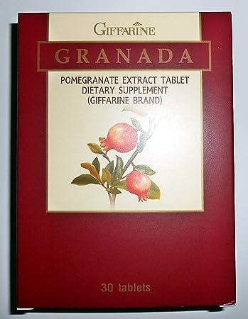 Amazon.com: Granada Extracto de Granada Tablet Suplemento ...