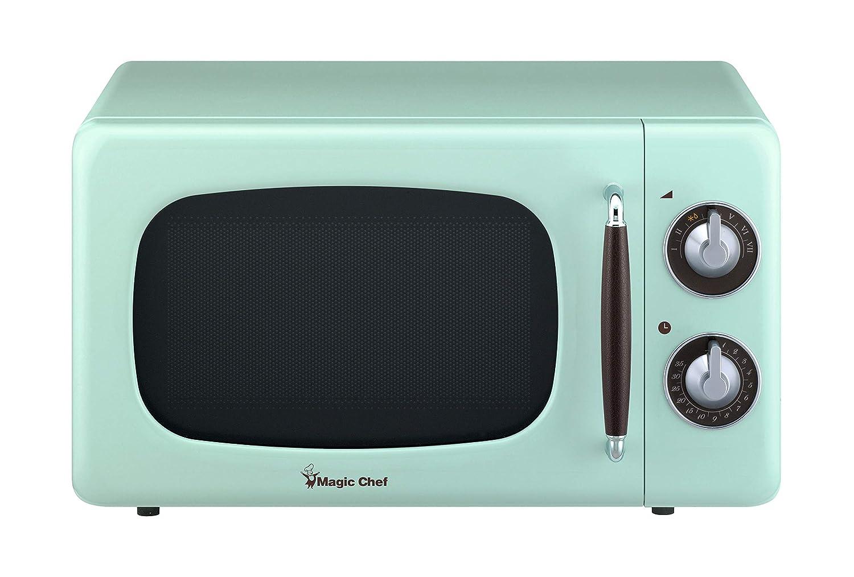Magic Chef MCD770CM 0.7-Cu. Ft. 700W Retro Countertop Microwave Oven in Mint Green.7 Cu.Ft,