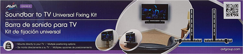AVF EAK90-E Universal Soundbar Mount for Mounting Soundbar Above or Below TV, Black