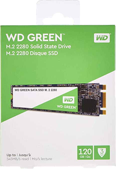 Western Digital WD Verde Internal SSD M.2 SATA, Verde, 120 GB ...