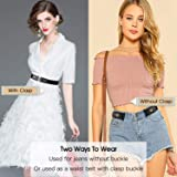 No Buckle Womens Belts for Jeans, Buckle-free
