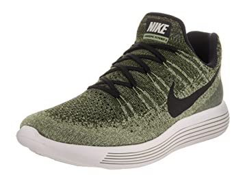 Nike Men s Lunarepic Low Flyknit 2 Rough Green Black Palm Green Running  Shoe 11 26d6b9f3277b