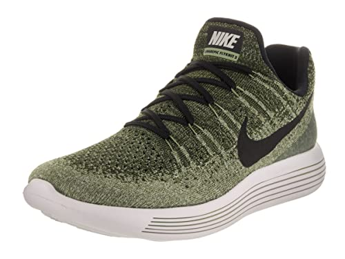 beea7f0c63057 Nike Men s Lunarepic Low Flyknit 2 Rough Green Black Palm Green Running  Shoe 10.5 Men US  Amazon.co.uk  Shoes   Bags