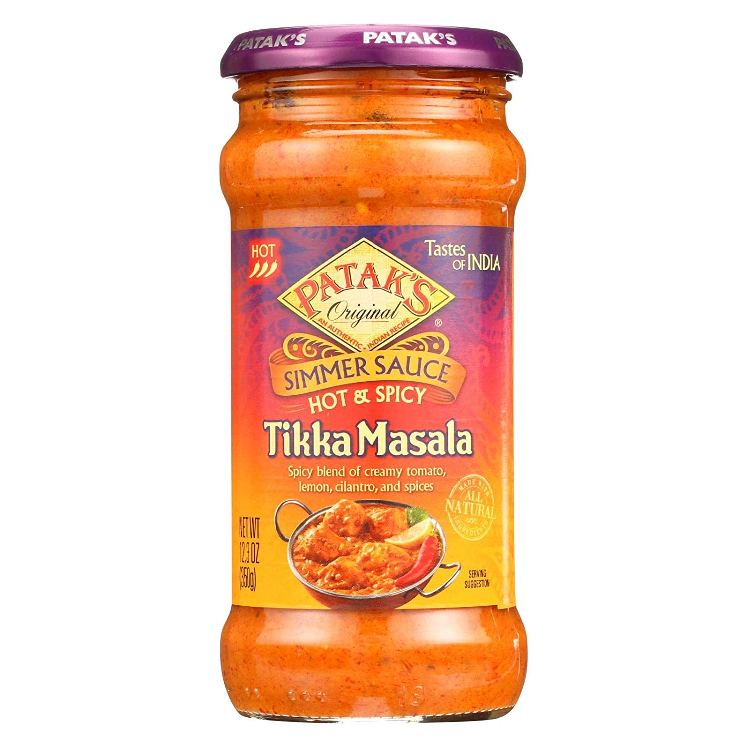 Amazon.com : Pataks Hot and Spicy Tikka Masala Sauce, 12.3 Ounce - 6 per  case. : Canned And Jarred Tomato Sauces : Grocery & Gourmet Food