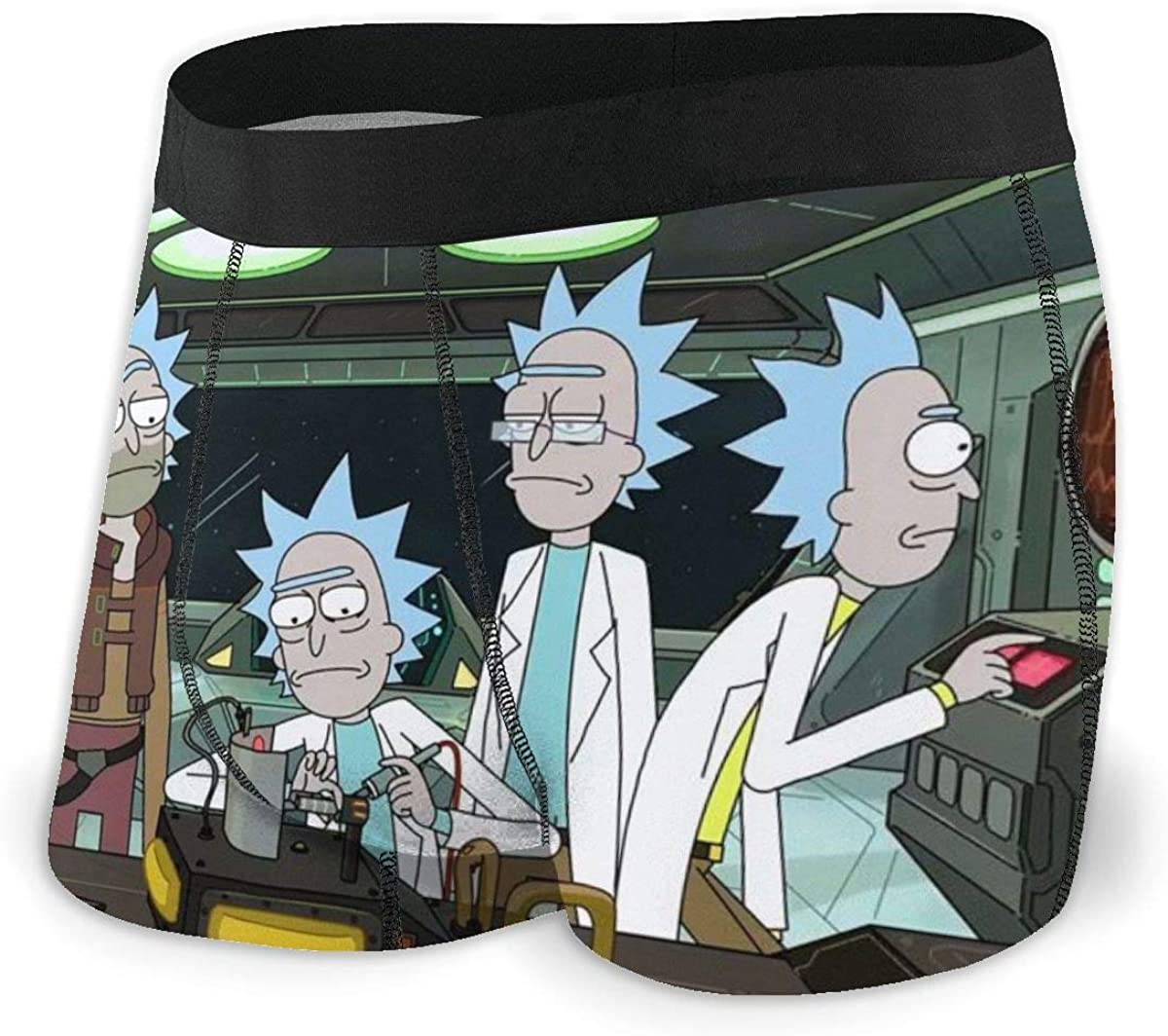 Underwear Rick /& Morty Get Schwifty Mens Boxer Briefs with Soft Stretch Fabric and Elastic Belt.