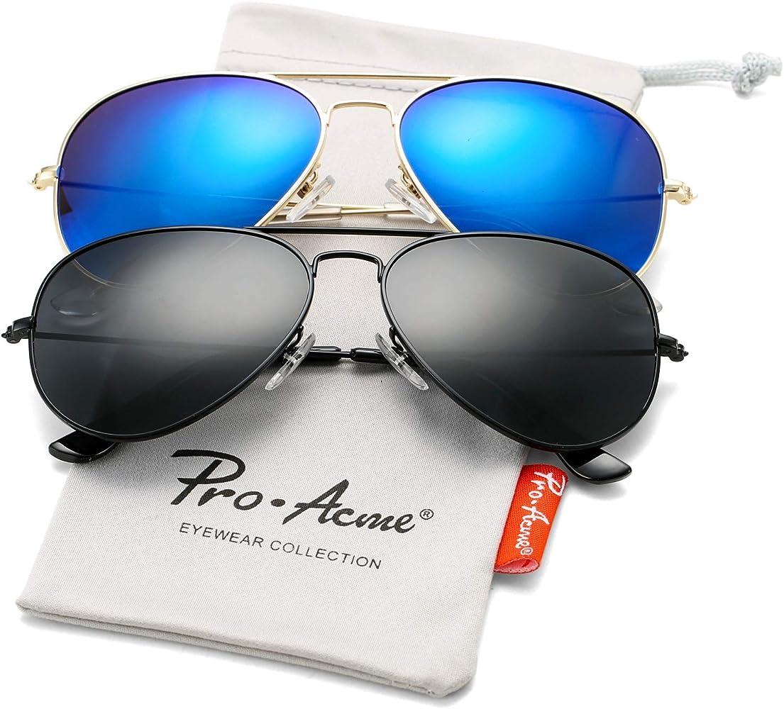 079f3f9675c9 Pro Acme Classic Polarized Aviator Sunglasses for Men and Women UV400  Protection (2 Pairs)