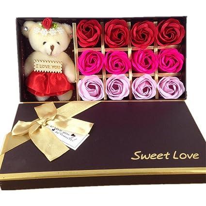 65722515e785 Amazon.com  12 Bath Soap Rose Flower