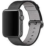 Apple Watch Pulsera, nailon tejido negro 42mm