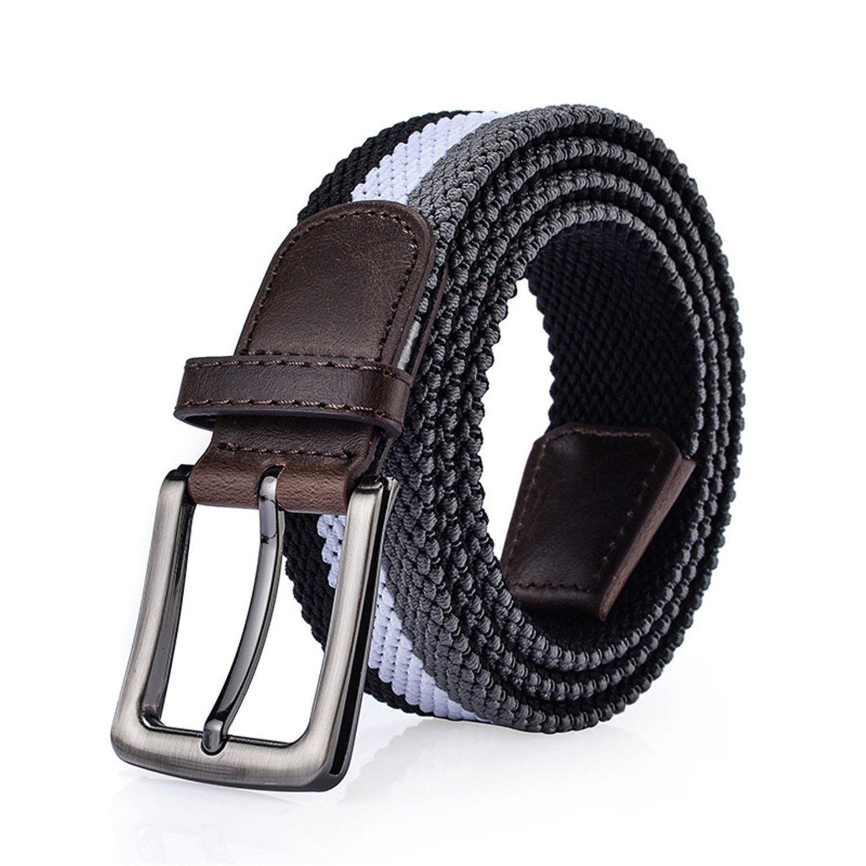 Anieca Unisex Breathable Belt Men /& Women Elastic Belts For Jeans Canvas Straps