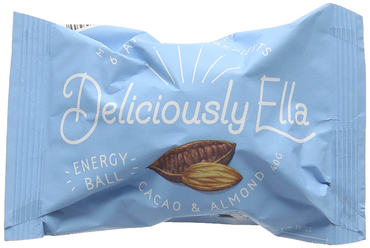 Deliciously Ella Cacao and Almond Energy Ball 40 g - Case of 12