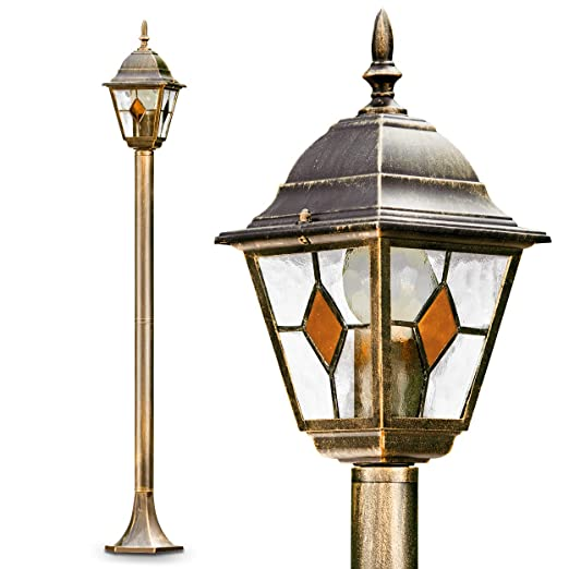 Post Light Antibes Gold Brown Colour Antique Outdoor