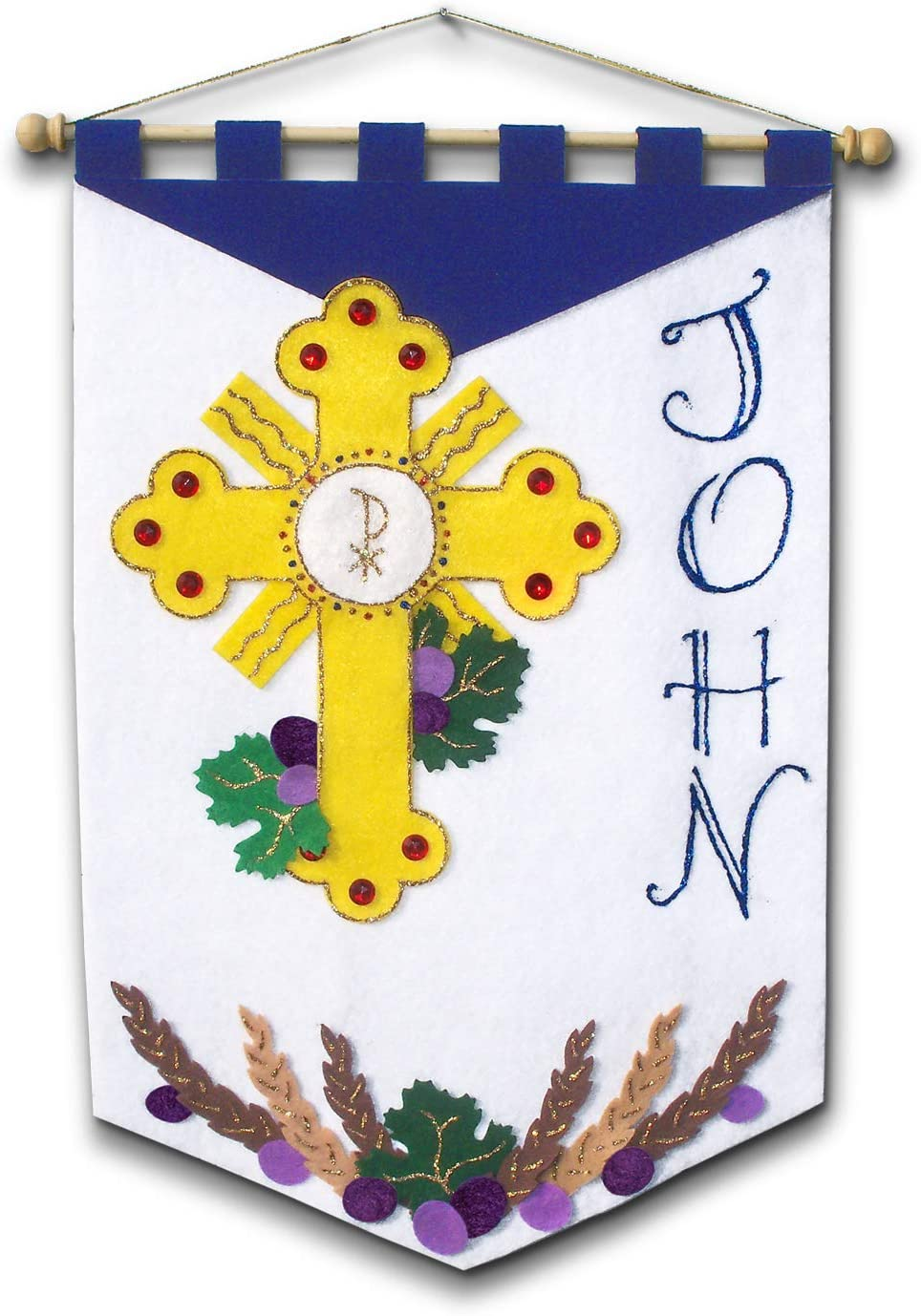 First Communion Banner Kit Adoration Illuminated Ink AX-AY-ABHI-19067 12 x 18