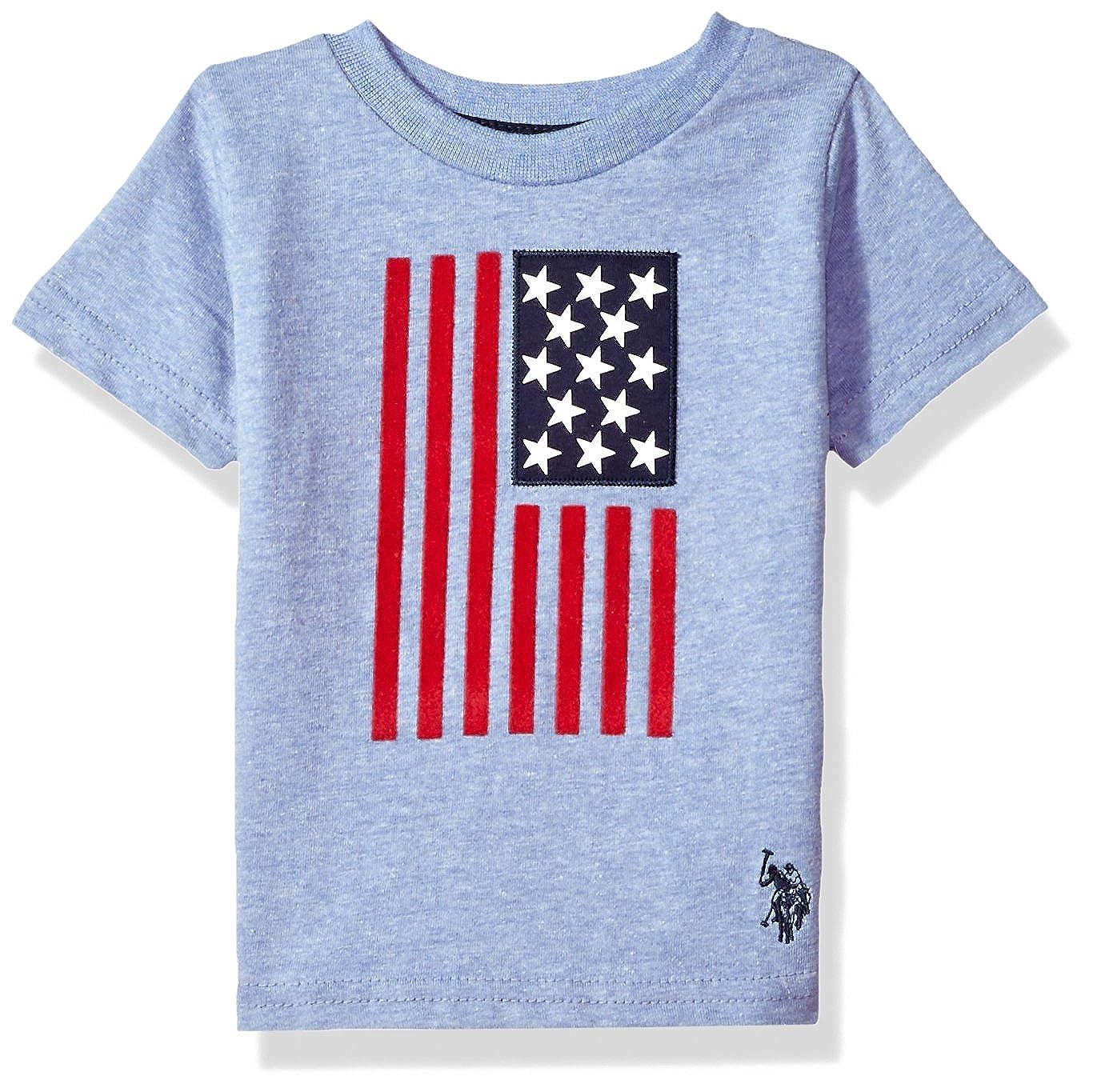Polo Assn U.S Baby Boys Short Sleeve Fancy Crew Neck T-Shirt