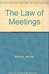The law of meetings Paperback
