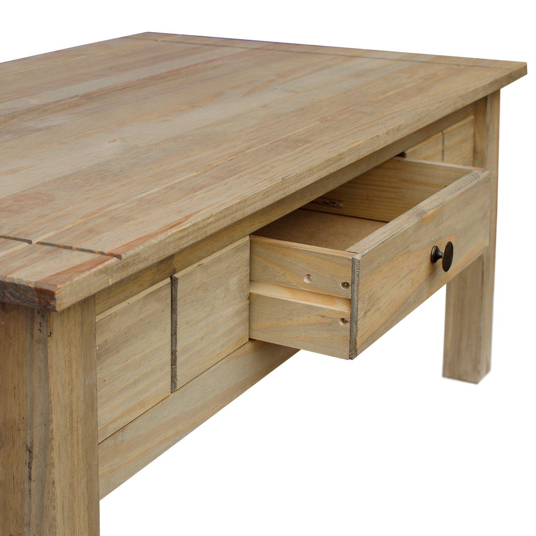 Home Discount Panama 1 Drawer Coffee Table Oak Wax Finish Amazon