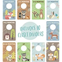 Woodland Closet Clothing Size Dividers/Closet Organizer for Baby Clothes Newborn to 4T / Forest Animal Baby Closet Size…