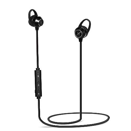 Neeko Invictus - Ultra Calidad HD Negro Bluetooth Auriculares magnéticos inalámbricos waterproof Micro Deporte y trabajo