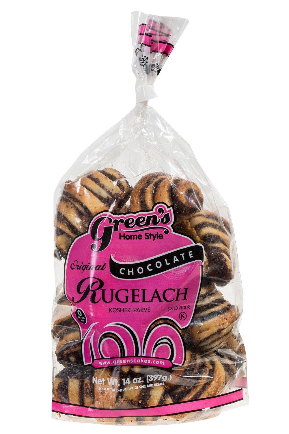 Green's Bakery Chocolate Rugelach Kosher Pastry - 14 oz.