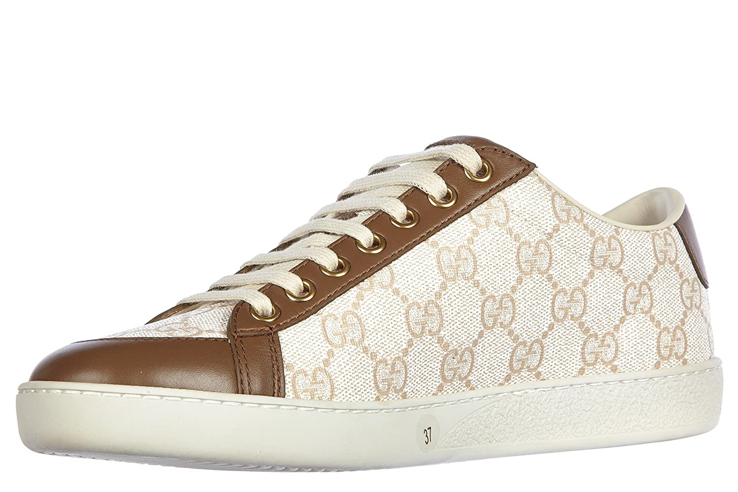 Gucci Scarpe Sneakers Donna in Pelle Nuove GG Supreme Miro Soft Marrone   Amazon.it  Scarpe e borse ffc088c1c1e7
